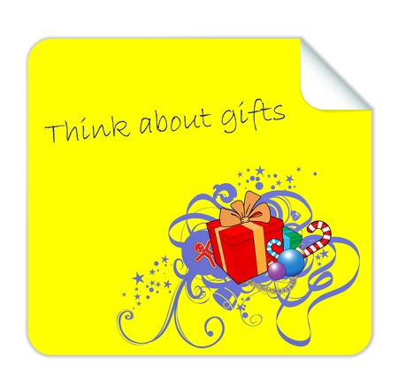 Vector Post it for Christmas Gifts photo