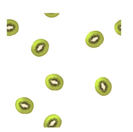 carb: Vector Kiwi seamless pattern  White background
