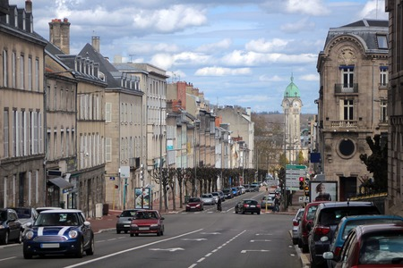 french culture: Limoges, France. Streets of City center