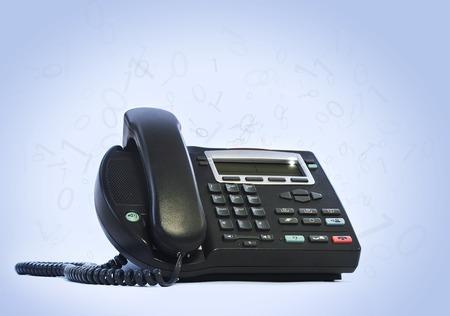 telephony: ip phone isolated on white