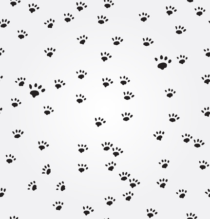 cat paw: Cat  Paw Prints vector seamless background Stock Photo