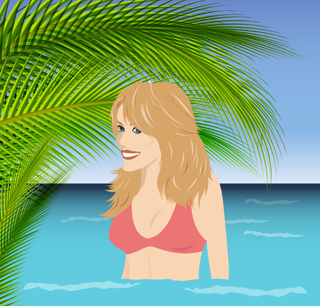 Tropical Vacation   girl in water photo