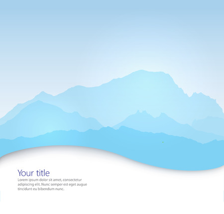 blanc: Vector Mont Blanc background with paper shadow effect Stock Photo