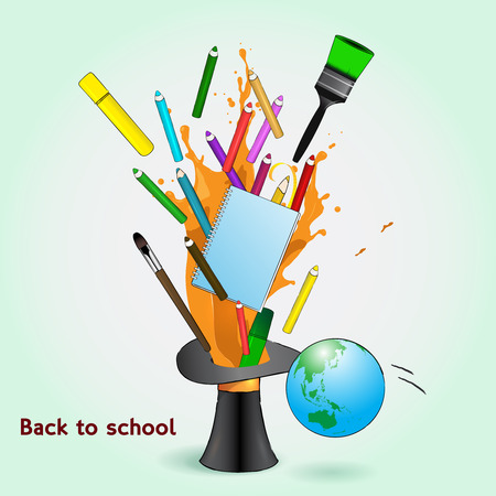 Back to school illustration. Comic style Vector