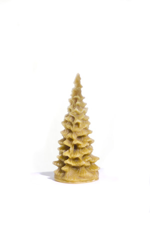 x mass: Wax Christmas tree