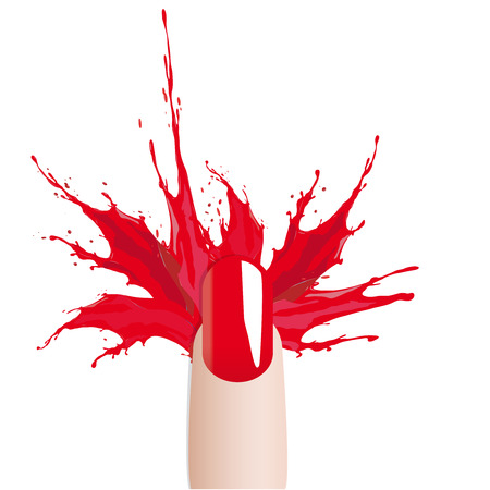 Fashion colours nail polish splash photo