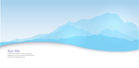 Vector Winter banner with Mont Blanc silhouette