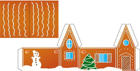 home plans: Gingerbread  house folded model paper