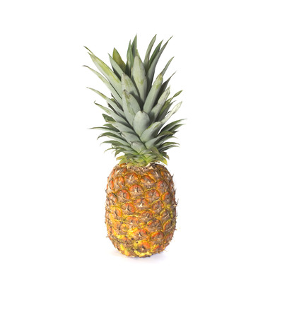 non: Non perfect pineapple isolated on white