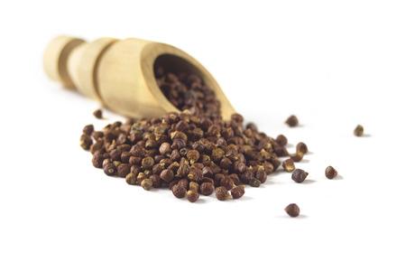 Grains of paradise Melegueta pepper isolated on white Zdjęcie Seryjne