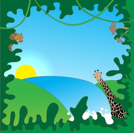jungle border: Jungle border