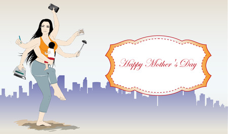 supermom: Happy mothers day banner Illustration