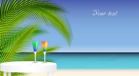 trip: Tropical trip Illustration