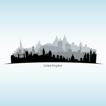 scottish parliament: Vector illustration of Great Britain Illustration