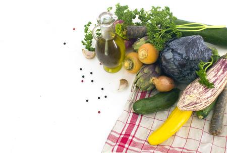 Fresh spring vegetables photo
