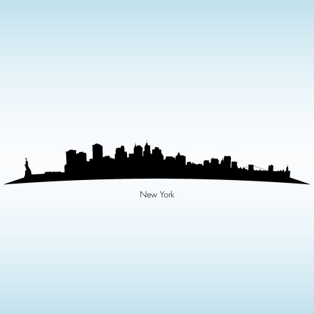 new york silhouette: New York Silhouette Skyline Illustration