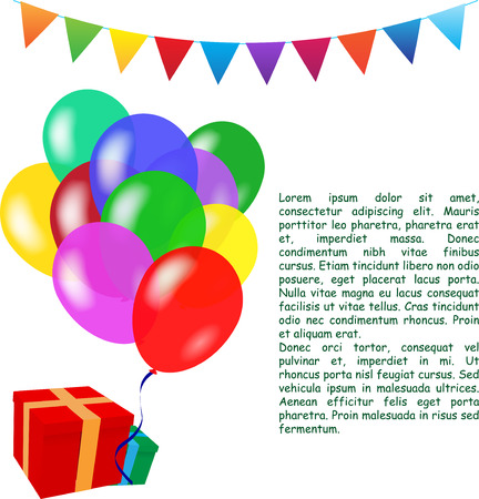 helium balloon: Holiday vector background with colorful balloons. Birthday