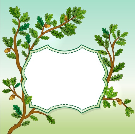 oak leaves: Oak leaves banner Stock Photo