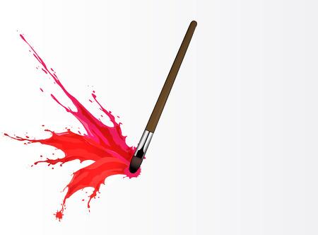Vector illustration of Colorful splash from brush Illustration