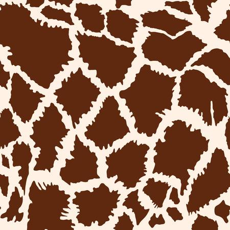 Seamless pattern of African giraffe fur