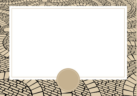 paving stone: Brown business card with Cobblestone background