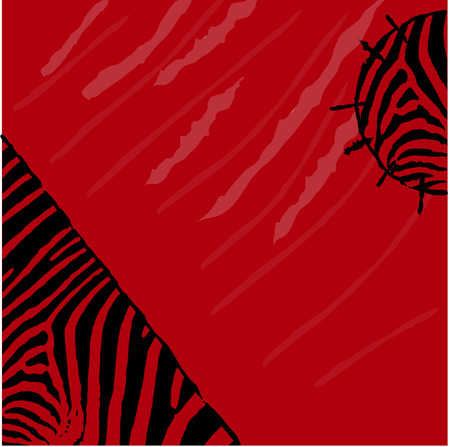 textile background: Abstract red zebra background. Textile Grunge style