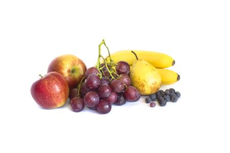 isolates: Stack of Fresh Fruits isolates on white backgrtound