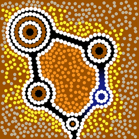 aboriginal art: Australia Aboriginal art background with dots