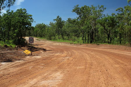 australian outback: Australian Outback red sand  Road. Northern Territory