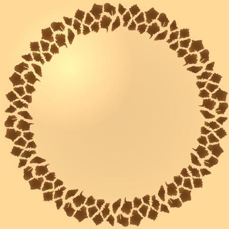 giraffe frame: Seamless frame of african giraffe fur Illustration