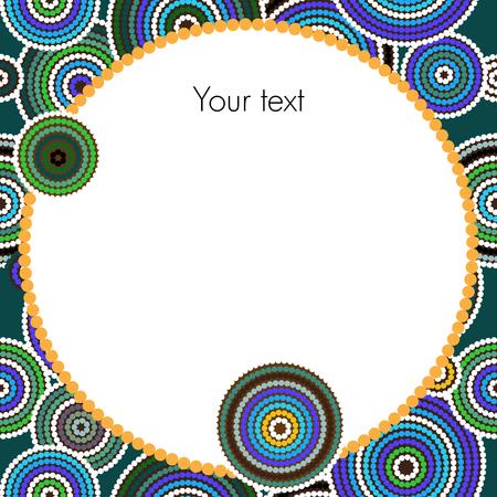 oz: Aboriginal dots and circles art vector background Illustration