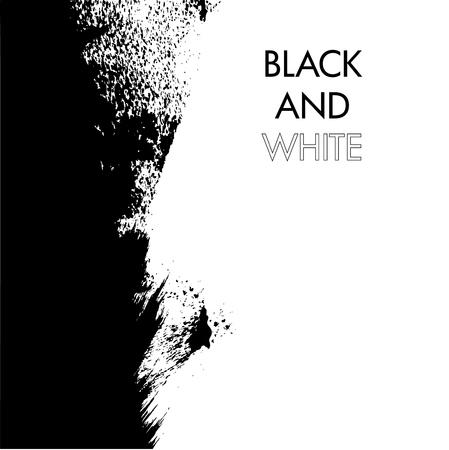 splattered: Grunge ink splattered black ad white background . Vector illustration