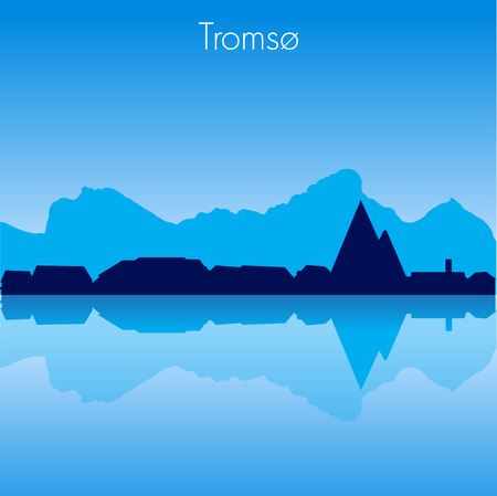 Tromso Vector skyline
