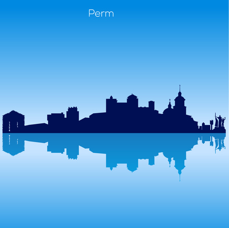 Vector skyline of Perm. Russia