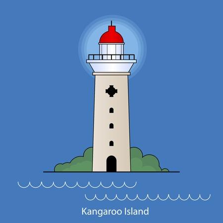 カンガルー島 - オーストラリア灯台ベクトル