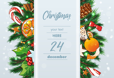 Christmas vector editable Background . Sweets background