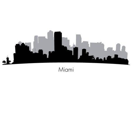 Miami vector Skyline Stock Illustratie