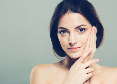 Beauty Woman face Portrait.
