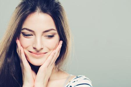 Schoonheid gezicht van de vrouw portret.
