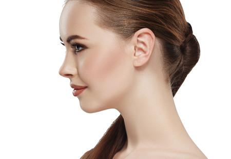 Profile of woman with beauty Stockfoto