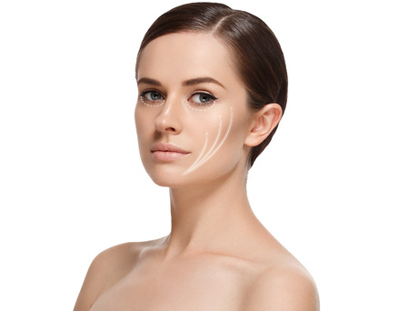 Woman cosmetic closeup beauty portrait, for salon beautiful people and healthy care skin and hair