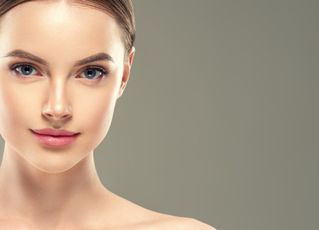 Eye mask patch cosmetic female woman face healthy skin. Studio shot. 免版税图像 - 110095693