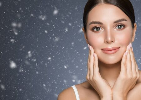 Winter Beauty woman healthy teeth smile healthy beautiful skin model face skin care happy female