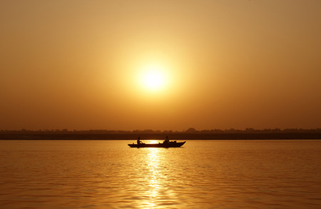 fishermens: Fishermens Boat at Sunset
