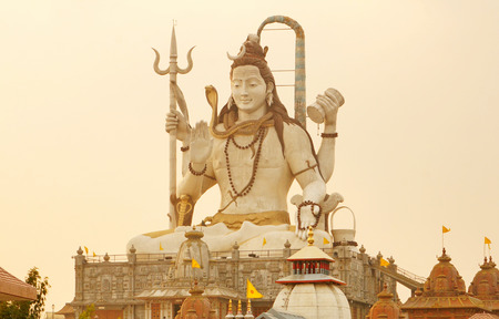 parvati: Shiva Statue at Sunset