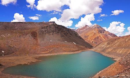 tal: Chandra Tal Sacred High-Attitude Lake in the Himalaya Mountains, India Stock Photo