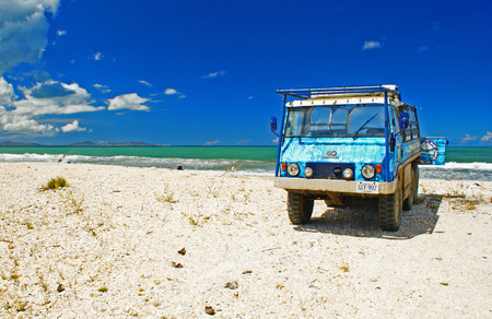 Pick-up on a White Sand Beach of Margarita Island, Nueva Esparta, Venezuela
