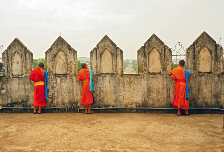 cassock: Three Young Monks Stock Photo