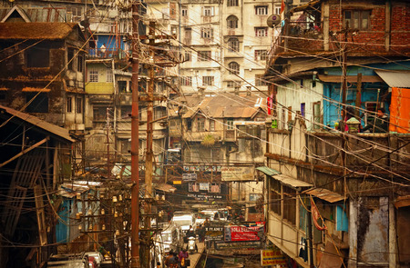Electricity Lines on the Streets of an Asian City