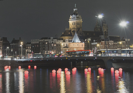 nicolaas: Red balloons at Amsterdam Light Festival